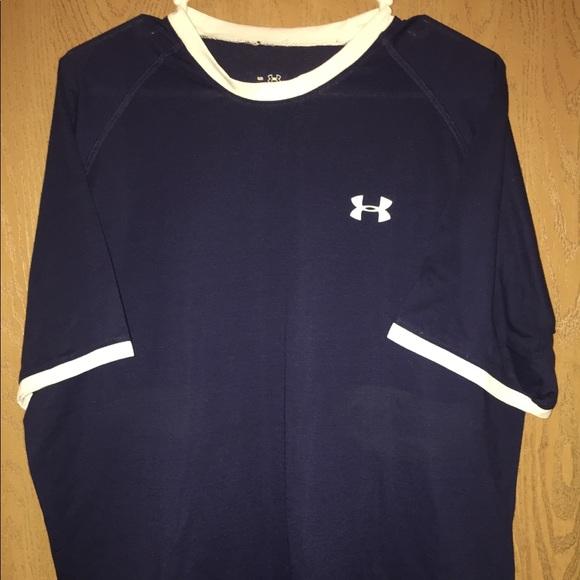 koop uitverkoop schattig goedkoop nieuwe levensstijl Like New Under Armour Blue/White Athletic T-shirt